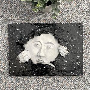 Moon Wall Art Original Sculpture